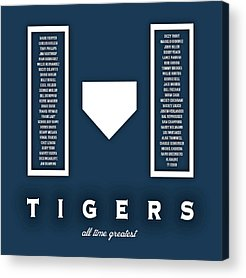 Detroit Tigers Art Digital Art Acrylic Prints