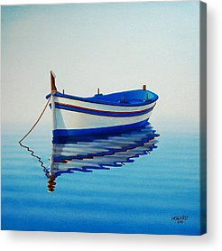 Boats Paintings Acrylic Prints