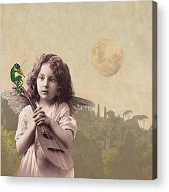 Lute Digital Art Acrylic Prints