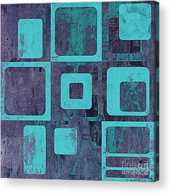 Turquoise Abstract Acrylic Prints