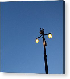 Lamp Post Mixed Media Acrylic Prints