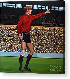 Goalkeeper Paintings Acrylic Prints