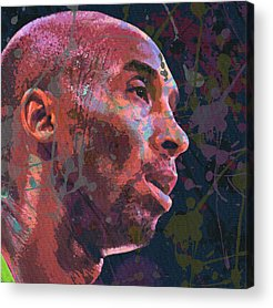 Kobe Bryant Abstract Paintings Acrylic Prints