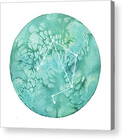 Zodiac Paintings Acrylic Prints