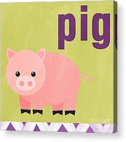 Pink Pigs Acrylic Prints