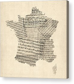 Old Sheet Music Acrylic Prints
