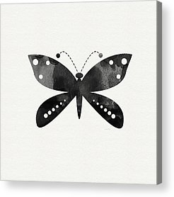 White Butterfly Acrylic Prints