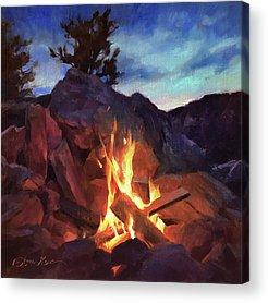 Campfire Acrylic Prints