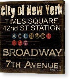 Times Square Acrylic Prints