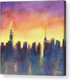 Abstract Skyline Acrylic Prints
