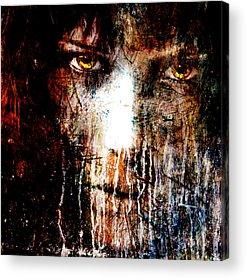 Black Background Mixed Media Acrylic Prints
