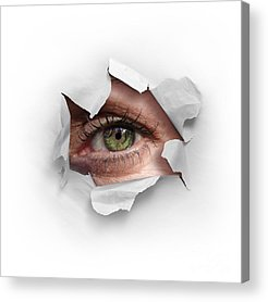 Eyeball Photographs Acrylic Prints