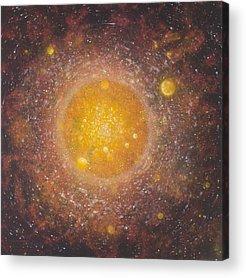 Intergalactic Space Paintings Acrylic Prints