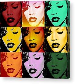 Rihanna Acrylic Prints