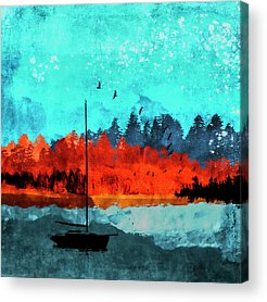 Boat Silhouette Acrylic Prints
