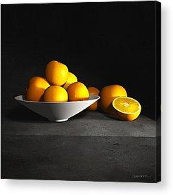 Still Life With Tangerines Acrylic Prints