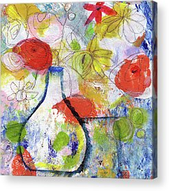 Flower Still Life Mixed Media Acrylic Prints