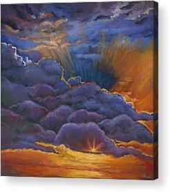 Desert Sunset Acrylic Prints