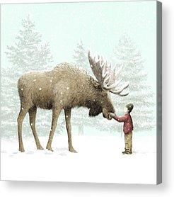 Moose Acrylic Prints