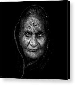 Indian Woman Acrylic Prints