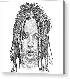 Zoe Kravitz Acrylic Prints