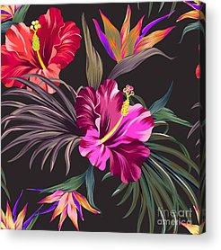 Hibiscus Flower Acrylic Prints