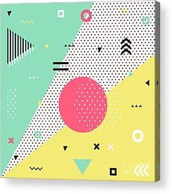 Memphis Design Acrylic Prints