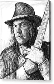 Neil Young Drawings Acrylic Prints