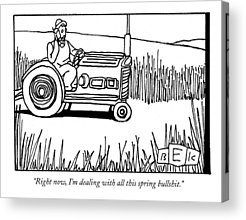 Farmer Acrylic Prints