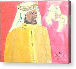 Princess Haya Bint Al Hussein Acrylic Prints
