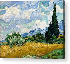 Designs Similar to Wheat Field With Cypresses