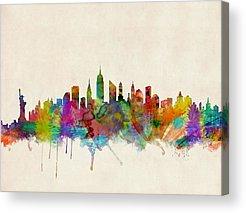 New York City Skyline Acrylic Prints