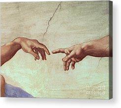 Hands Of God Acrylic Prints