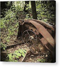 Car Wreck Acrylic Prints