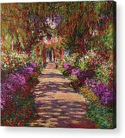Monet Garden Acrylic Prints