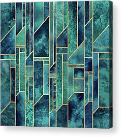 Green Blue Acrylic Prints