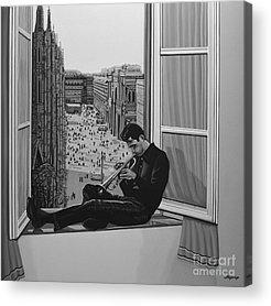 Jazz Singer Acrylic Prints
