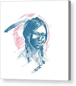 Indian Princess Acrylic Prints
