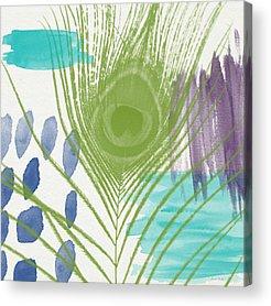 White Feathers Acrylic Prints
