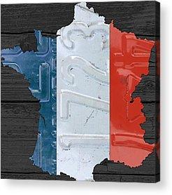France Acrylic Prints