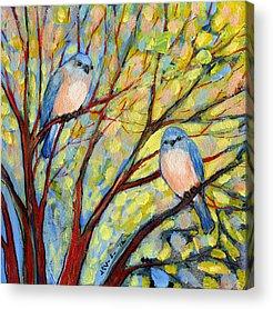 Peach Tree Acrylic Prints