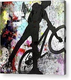 Bmx Freestyle Acrylic Prints