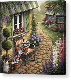 Cobblestone Path Acrylic Prints