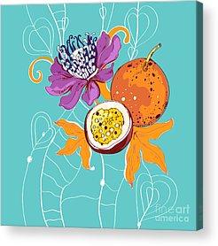 Passion Fruit Flower Acrylic Prints