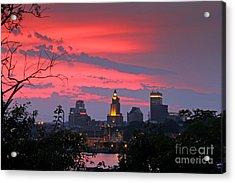 4th Of July Sunset Providence Ri Acrylic Print