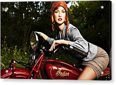 Indian Motorcycle Acrylic Print