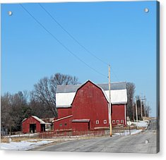Large Red Barn Acrylic Print
