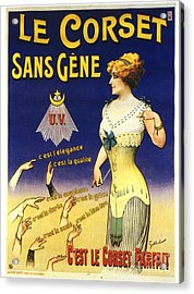 1890s France Womens Underwear Corsets Acrylic Print by The Advertising Archives