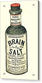 1890s Uk Brain Salt Headaches Humour Acrylic Print by The Advertising Archives