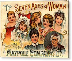 1890s Uk Maypole Ageing The Seven Ages Acrylic Print by The Advertising Archives